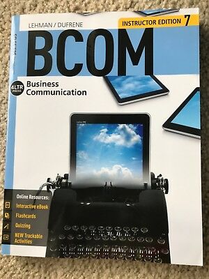 4LTR BCOM Business CommunicationLehman/Dufrene (instructor's edition7) for sale  Shipping to South Africa