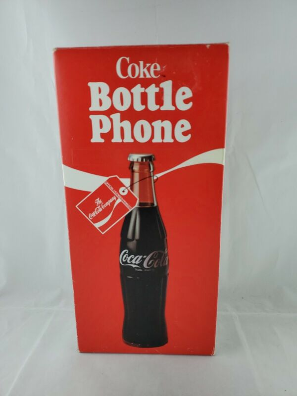 Coca Cola Bottle Phone 1983 new in box never opened