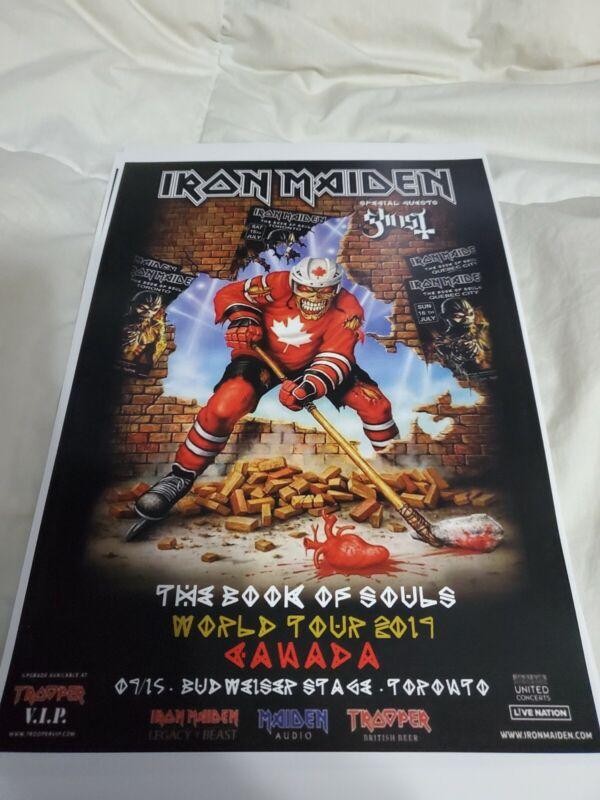 Iron Maiden Toronto Book Of Souls Tour Poster