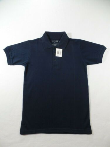 Boys Navy Short Sleeve Polo Pique Knit Shirt Authentic Galaxy