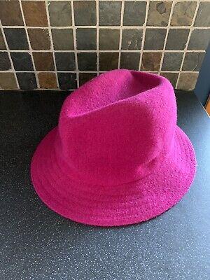 Kangol Pink Wool Trilby Hat Size L