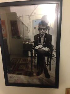 Framed 2' by 3' Bob Dylan Poster