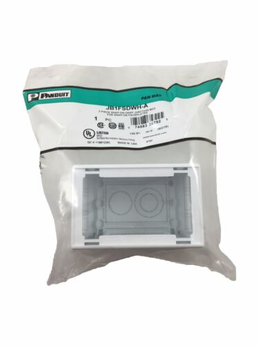 Panduit Outlet Box - 2-piece Quick Snap, Adhesive Backing - Jb1fsdwh-a