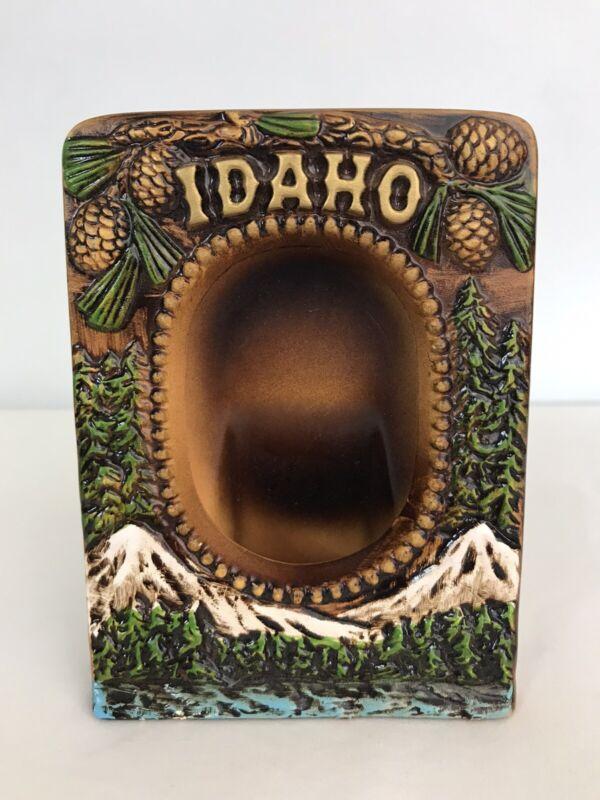 Vintage Ceramic Idaho Souvenir Picture Frame Made In Japan