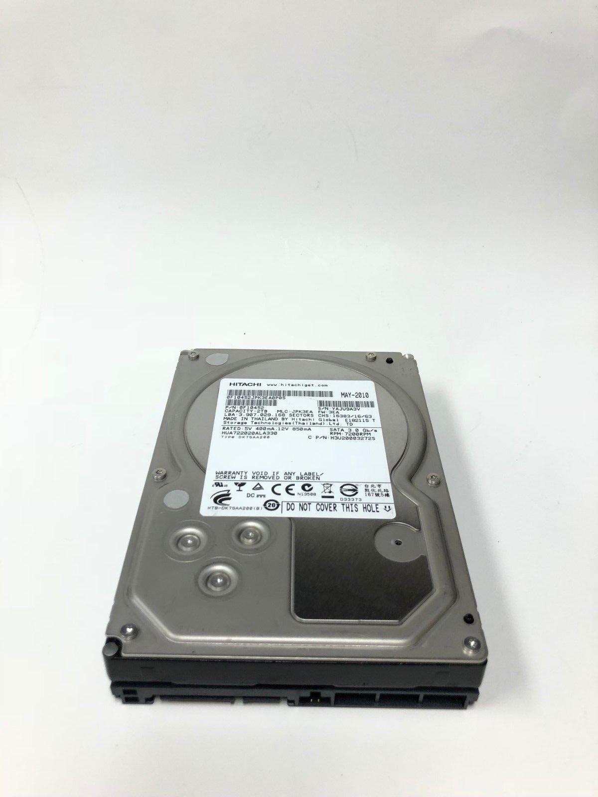 "Hitachi HUA722020ALA330  2TB 3.5/"" 7.2K SATA 0F10452"