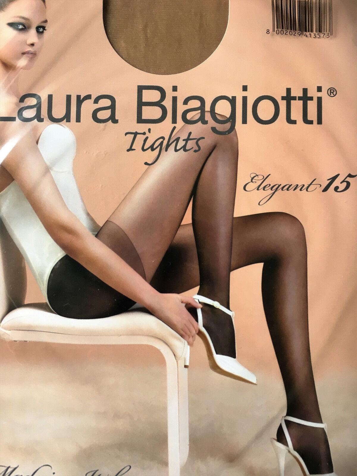 Feinstrumpfhose, Laura Biagiotti, 15 DEN, matt, Hautfarbe, Gr.38