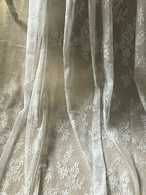 "STUNNING NEW HUGE 60""X90"" VINTAGE FRENCH STYLE NET/LACE CURTAIN PANELS"