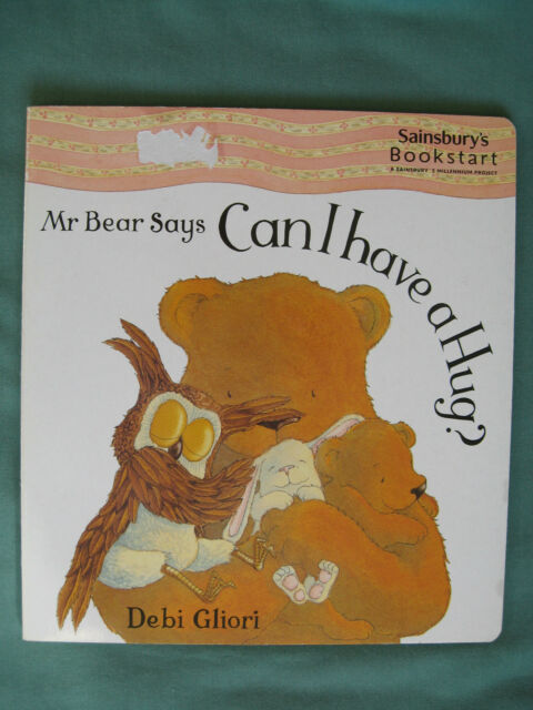 Mr Bear Says Can I have a Hug? Debi Gliori board book acceptable condition