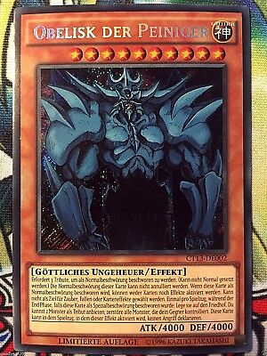 Obelisk der Peiniger CT13-DE002 Secret Yu-Gi-Oh! Götter Karte Monster DEUTSCH NM