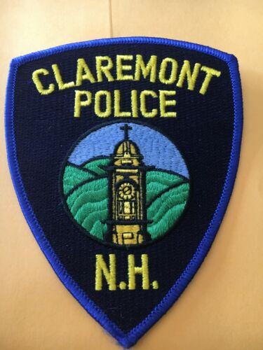 Claremont New Hampshire Vintage Police Patch version 1