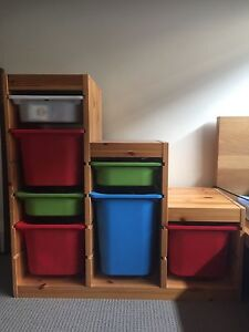 IKEA Trofast storage frame and 7 storage boxes Cranbourne North Casey Area Preview