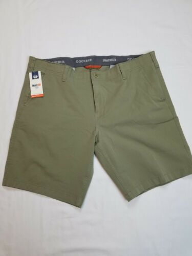 Dockers Men's Chino Shorts Smart 360 Flex Size 38 Color Gree