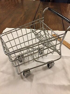 Small Metal Shopping Cart Rolling Wheels 7 By 8 Home Decor