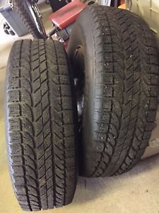 Chevy steel rims/w winter tires for 2WD.