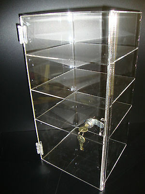 Acrylic Countertop Display Case 9 12 X 9 12 X 19 Locking Security Show Case
