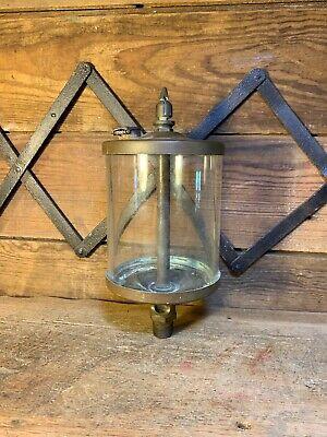 Large Brass Oiler Glass Vintage Original Hit Miss Steam Engine Tractor Train