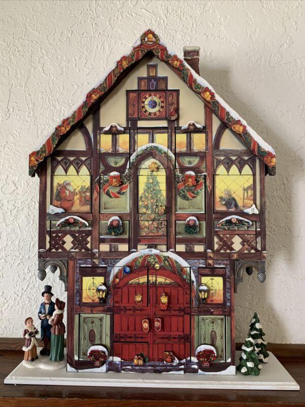 Costco Advent Calendar 663167 Victorian Wooden House 24 Doors Christmas Decor