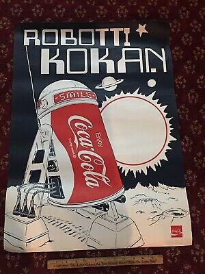 1970's Coca-Cola Robot Coke Can ( Similar To R2D2) Poster 20x26 Robbati Kokan