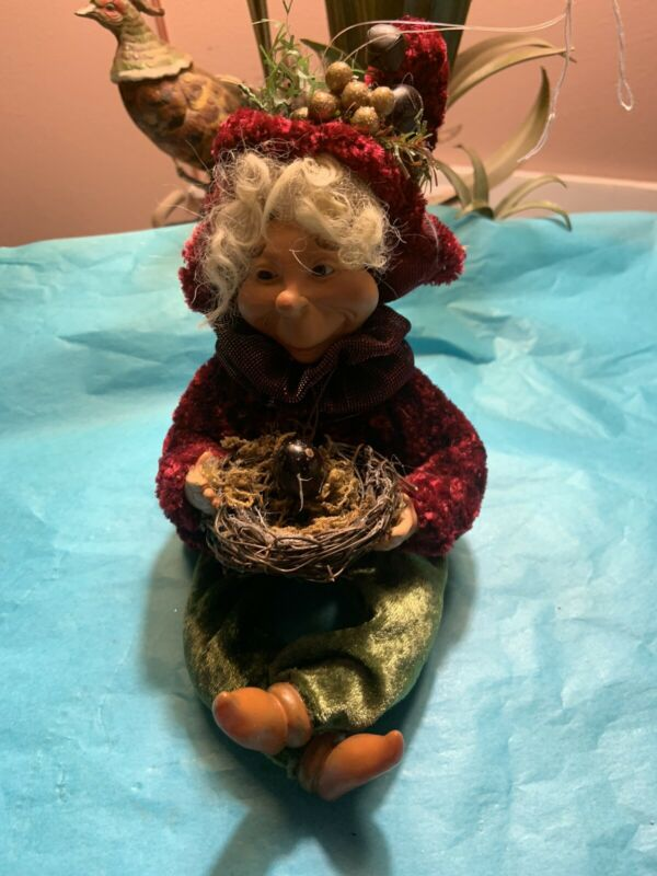 Jester Elf  Ornament Doll Whimsical Woodland