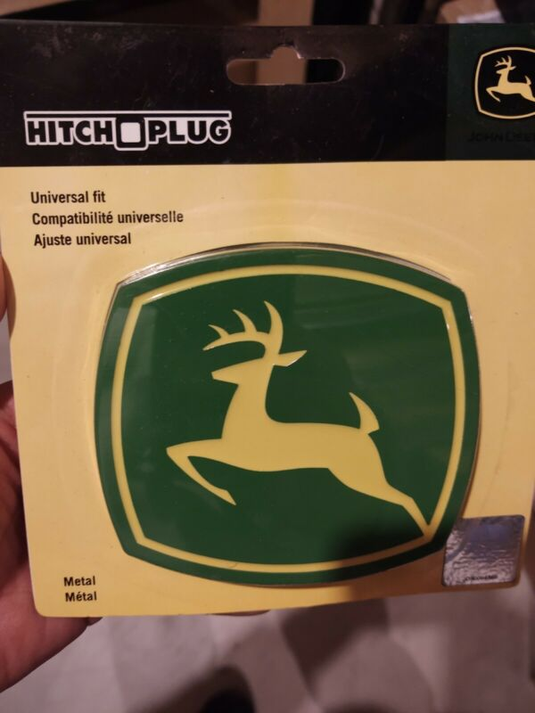 JD JOHN DEERE RECIEVER HITCH COVER PLUG ALL METAL-NEW-FREE SHIPPING!