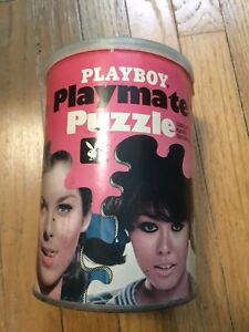 Collectable Playboy Playmate Puzzles in a can.