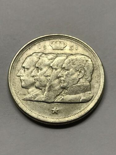 1951 Belgium 100 Francs Silver VF++ #13629
