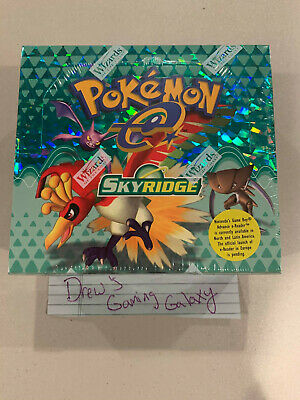 Factory Sealed WOTC Skyridge Pokemon 36 Booster Card Pack Box TCG