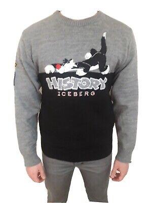 Vintage History Iceberg Jumper. Sylvester and tweety-pie. Mens Medium.