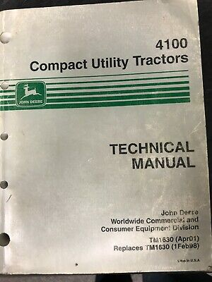 John Deere 4100 Compact Utility Tractors Technical Manual Tm1630