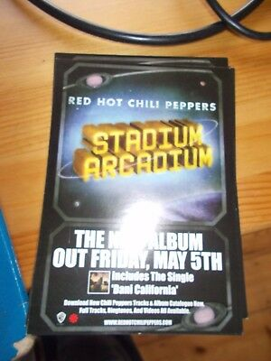 Red Hot Chili Peppers Stadium Arcadium Postcard promo flyer album chilli flea