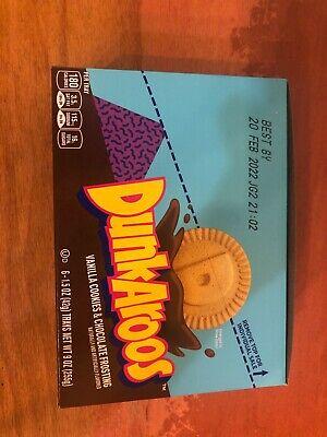 NEW DUNKAROOS CHOCOLATE 6 Packs Vanilla Snack Nostalgia RARE LIMITED.