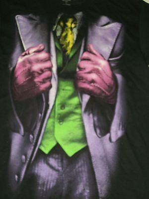 Joker Costume T Shirt (The Dark Knight Rises Batman Joker Suit Black Men's T-shirt Size Small)