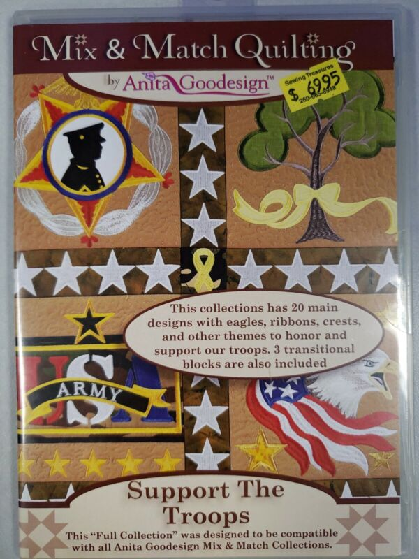 Support the Troops Machine Embroidery Anitagoodesigns