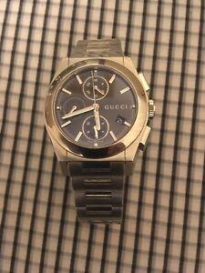 Gucci Pantheon Chronograph Rare Brown Dial. XL Valjoux 7750. YH115205