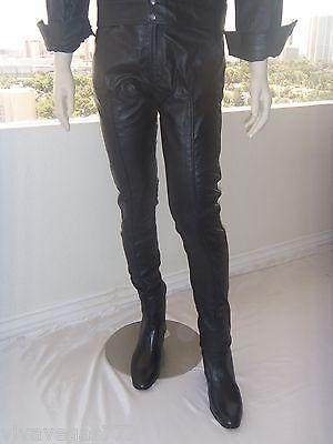 ELVIS Soft BLACK Leather 1968 PANTS (Tribute Artist Costume)Pre Jumpsuit Era NEW