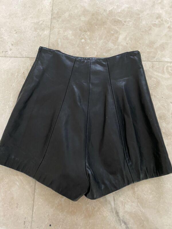 Vintage 80s 90s North Beach Black Leather Shorts Michael Hoban