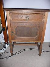Old Decorative Timber Bedside Table Rangeville Toowoomba City Preview