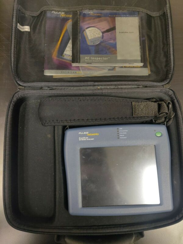 Fluke Networks EtherScope Network Assistant Case Software Tested Good Condition