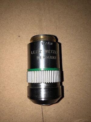Leitz Wetzlar Germany Npl Fluotar 250.75 Oil 160- Microscope Objective