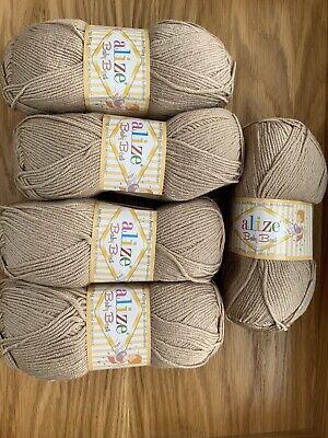 Alize Baby Best 10% Bamboo 5 X 100g Knitting Wool/Yarn