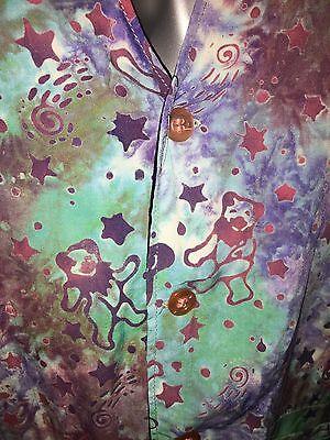 The Grateful Dead Women's Tie Dye Vest Large Rayon