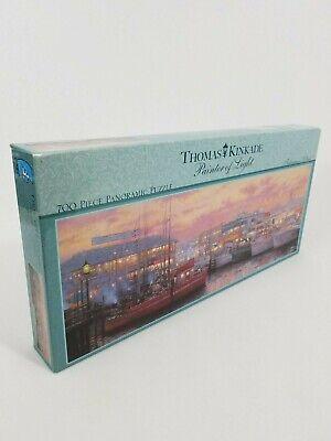 Thomas Kinkade Painter of Light Panoramic Puzzle Fisherman's Wharf 700 Piece NEW ()