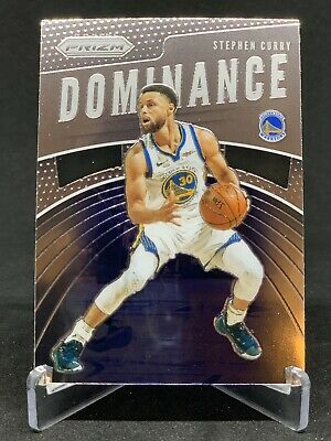 2019-20 Prizm DOMINANCE SP STEPH STEPHEN CURRY #24 GOLDEN STATE WARRIORS INSERT