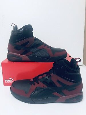 Mens Puma Slipstream Leather Hi Tops Basketball Trainers Ankle Boots Shoes Size