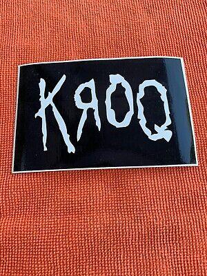 Vintage Rare WORLD FAMOUS KROQ 106.7 Radio Station Sticker Decal W/ Korn Font