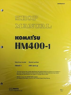 Komatsu Hm400-1 Shop Service Manual Articulated Dump Truck