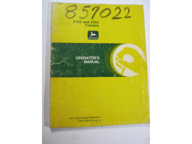 JOHN DEERE 2150 & 2255 TRACTORS OPERATOR'