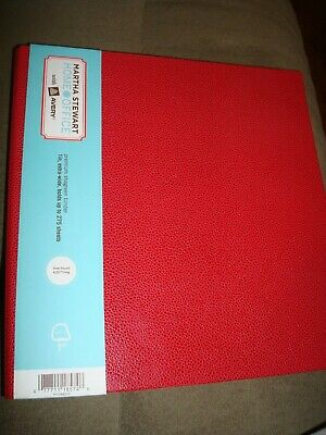 Martha Stewart One Touch Ezd Binder Red