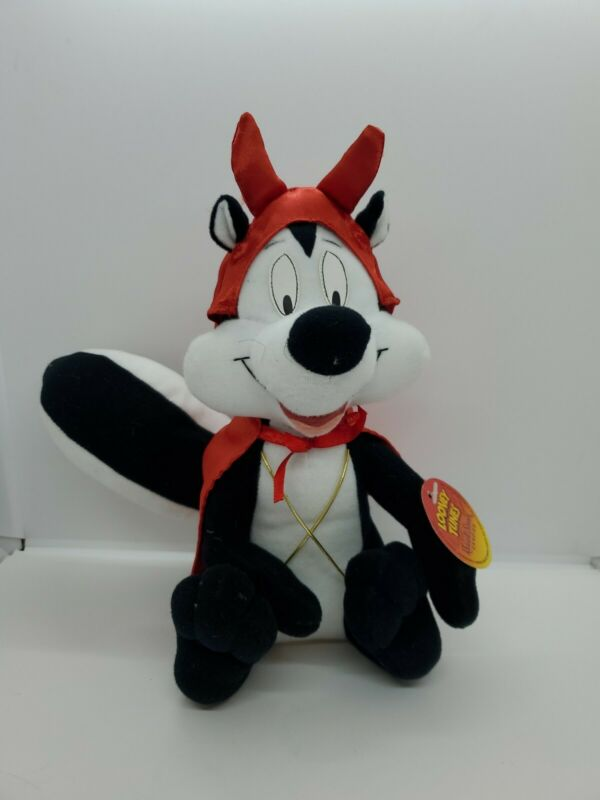 """Pepe Le Pew Plush Skunk Devil Outfit Looney Tunes Russel Stover Stuffed 10"""""""