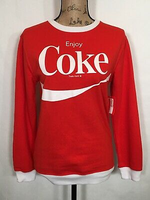 Official Coca Cola Sweatshirt Size Medium Enjoy Coke Woman's/ Juniors Red White